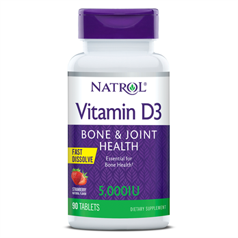 Natrol Vitamin D3 - 90 Chewable, 5000 IU